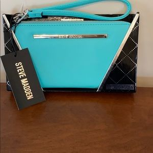 Steve Madden Blue Boxed Wallet/Wristlet